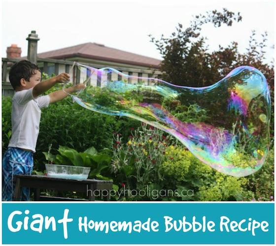 Giant DIY Bubble Recipe