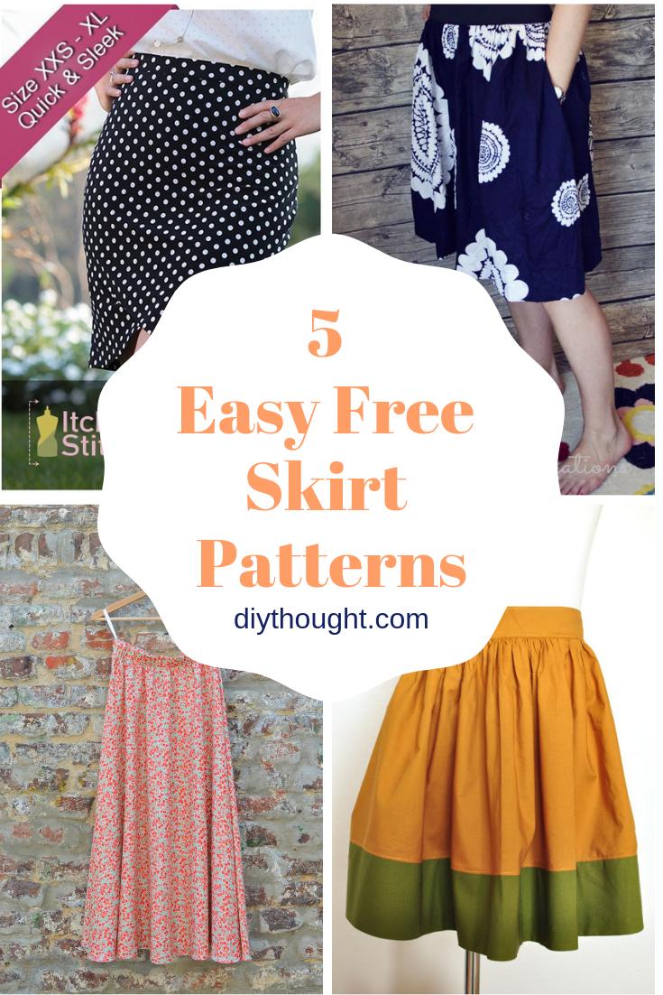 5 easy free skirt patterns