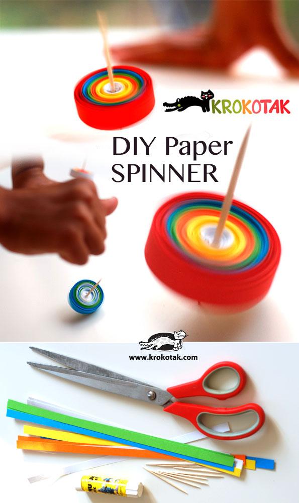 Paper crafts - diy paper spinner