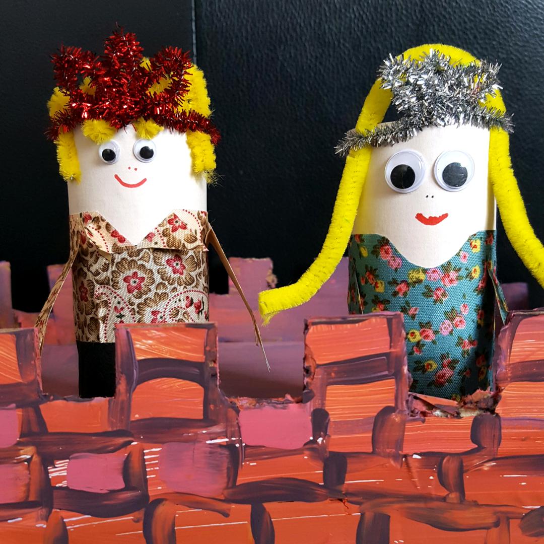 Cardboard Roll Royal Family Craft