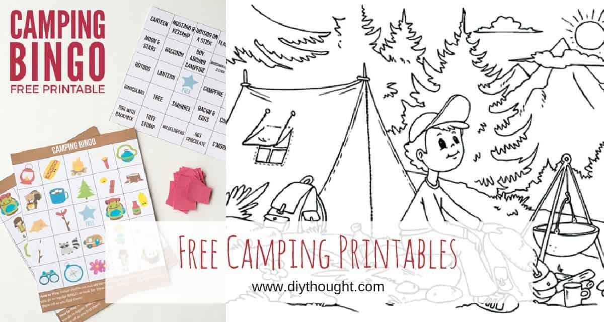 8 Free Kids Printables To Take Camping - diy Thought