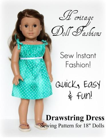 """dolls quick and easy dress 18"""""""