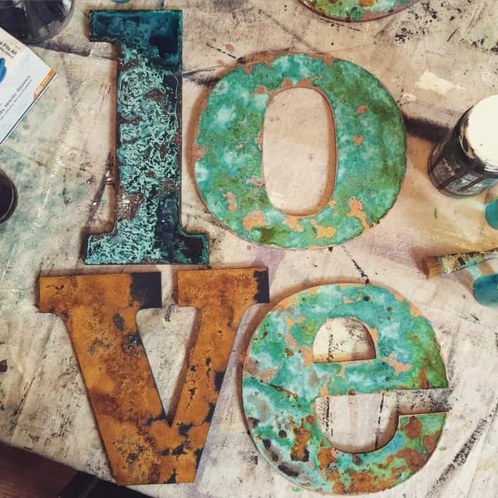 Patina Letters