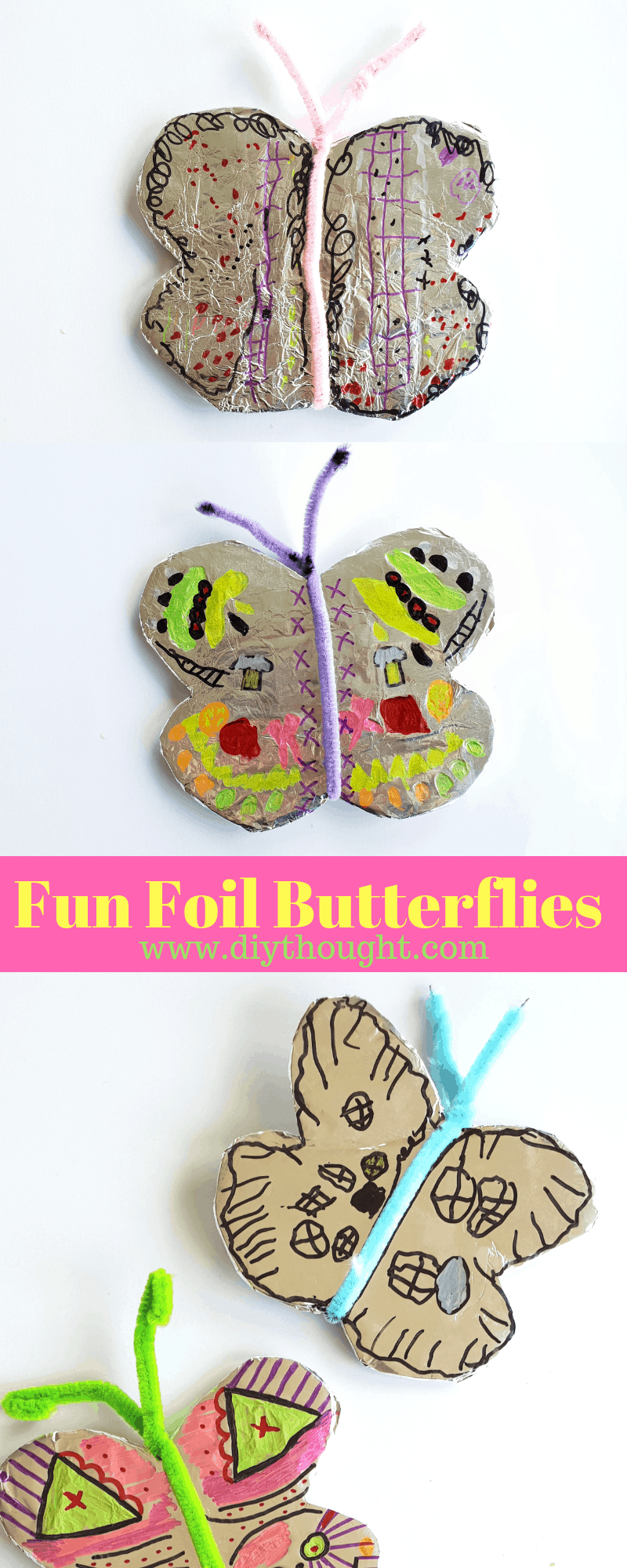 Foil butterfly craft