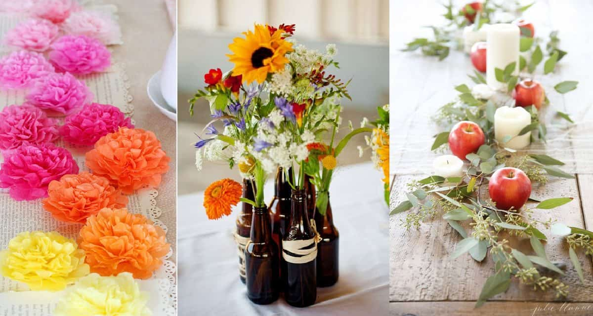 5 Stunning But Simple Diy Table Centerpieces Diy Thought