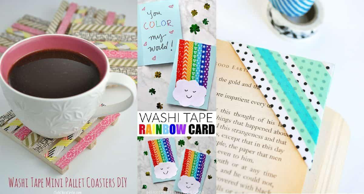 12 Fun Washi Tape Crafts Diy Thought