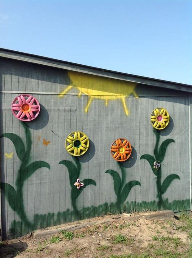 DIY Hubcap flower tutorial