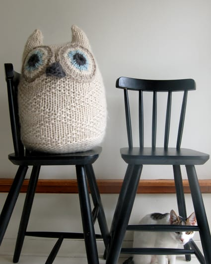 knitted giant owl