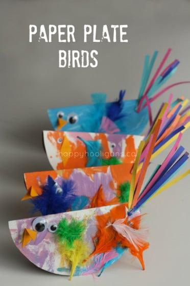 paper plate birds