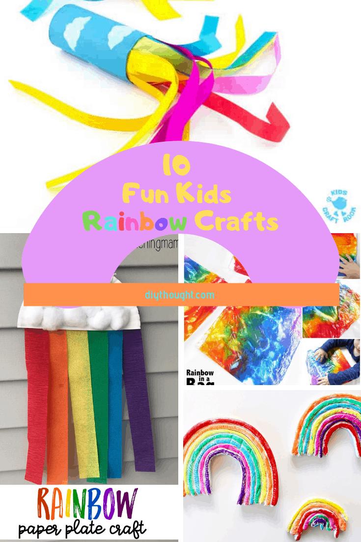 10 fun kids rainbow crafts