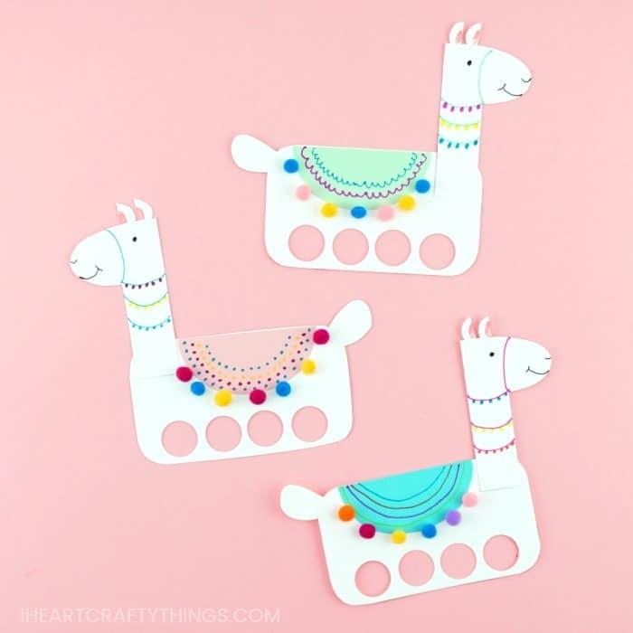 llama finger puppets