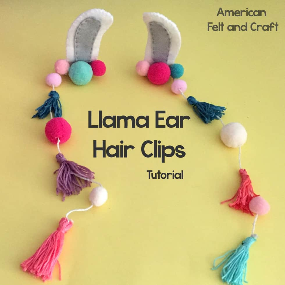 llama hair clips diy tutorial