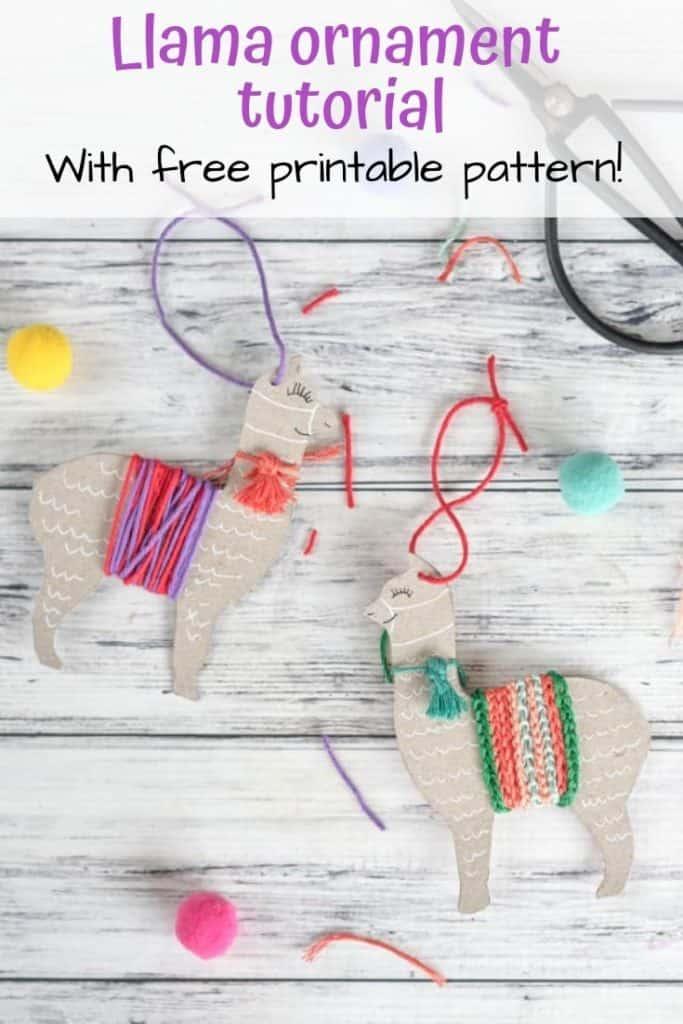 Llama ornament craft