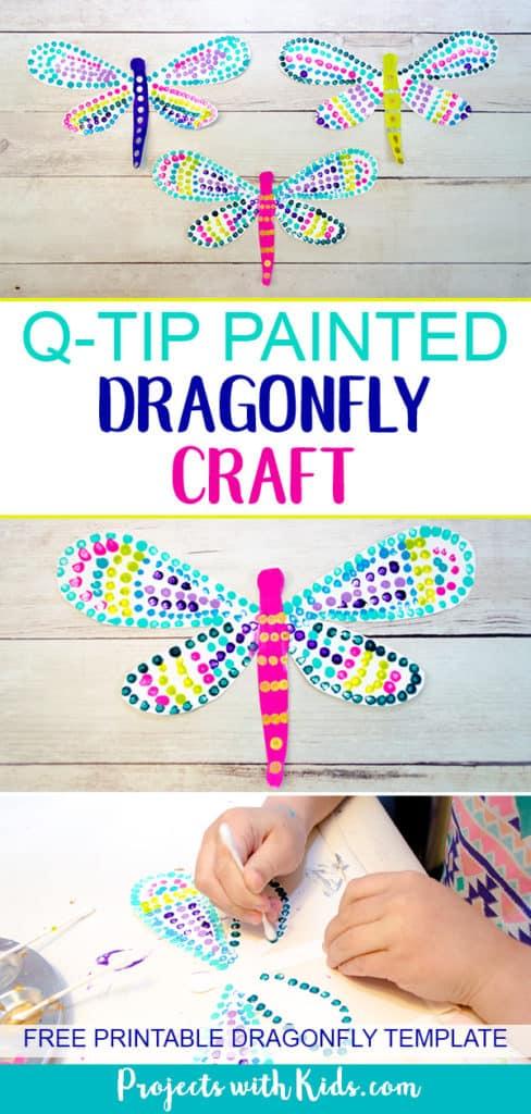 Q-tip Dragonfly Craft