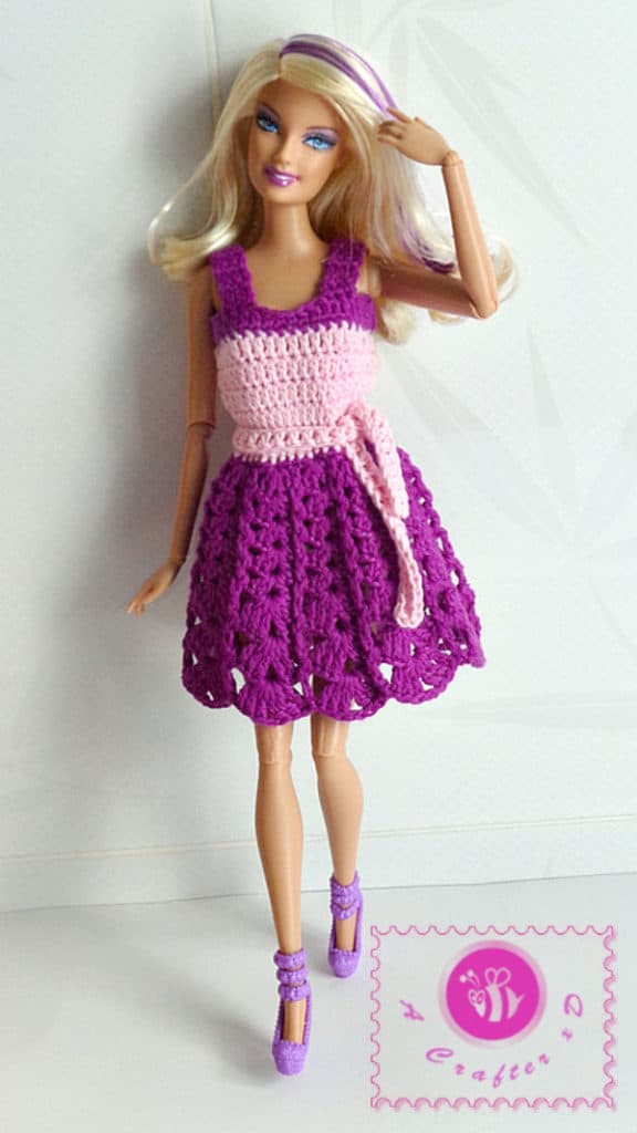 Barbie crochet tank dress pattern