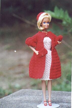 70s Barbie crochet coat