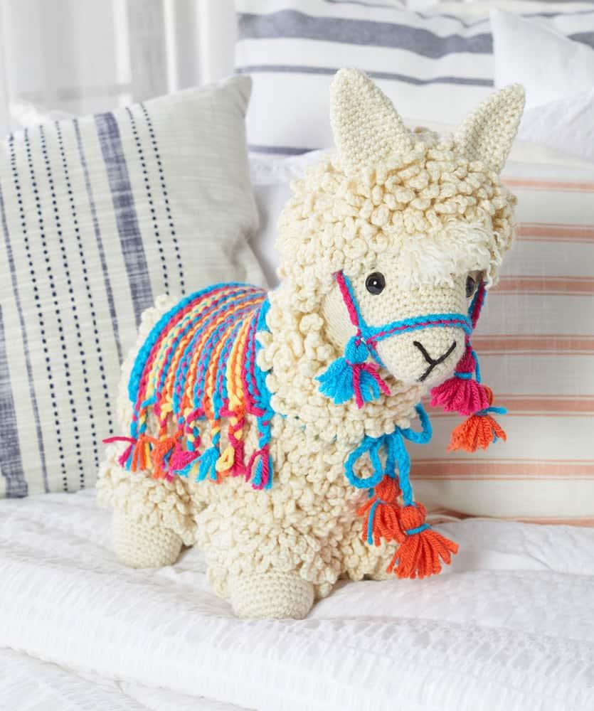 llama crochet toy free pattern