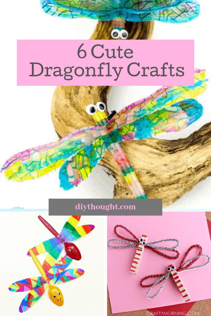 6 cute dragonfly crafts