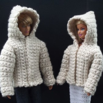 crochet Barbie Jacket