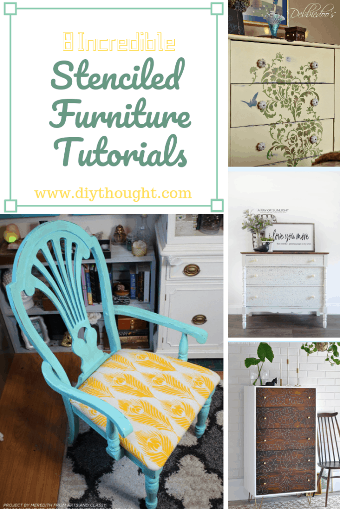 Stenciled furniture tutorials