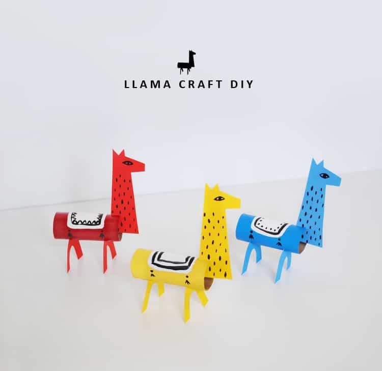 cardboard roll llamas