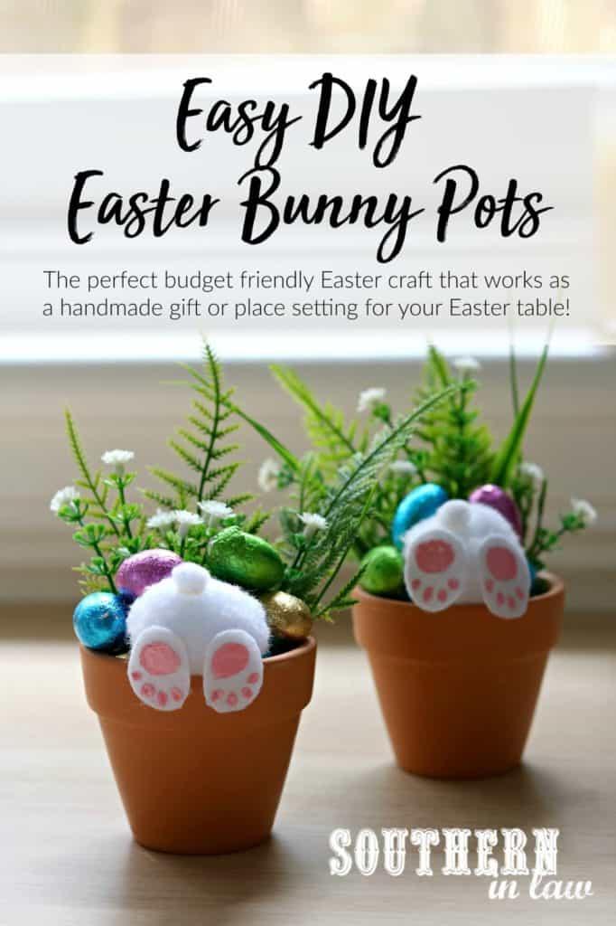 Easter bunny pots