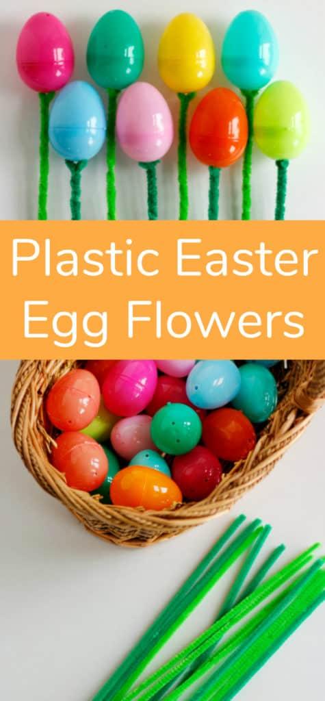 plastic egg flowers
