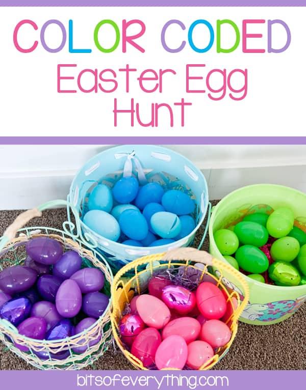 color coded egg hunt