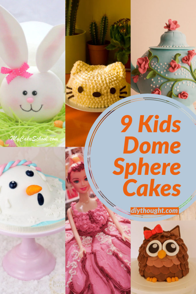 dome sphere shaped cakes