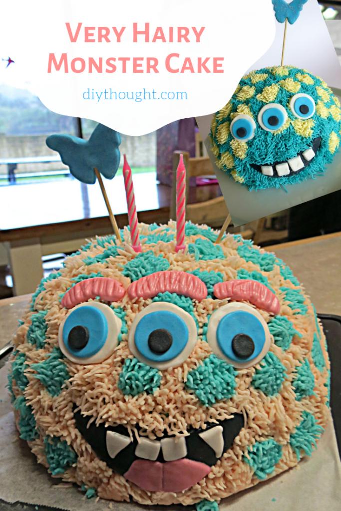 DIY monster cake