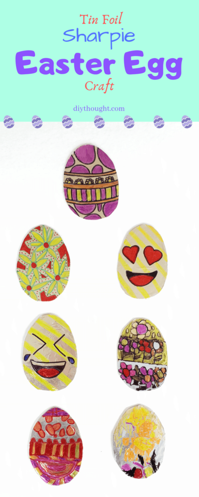 tin foil sharpie easter egg craft