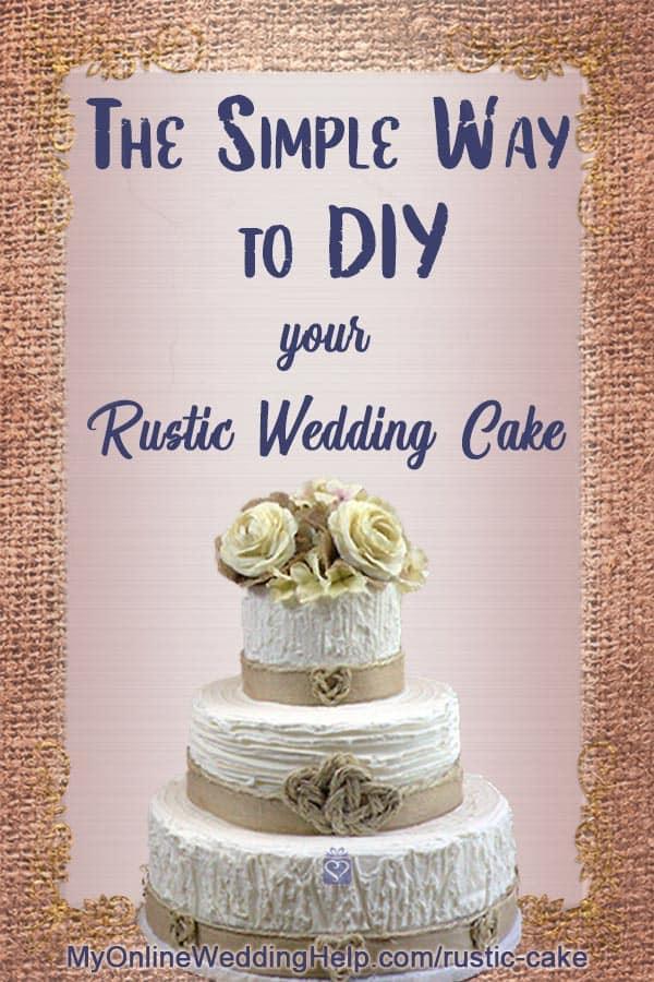 rustic country wedding cake DIY