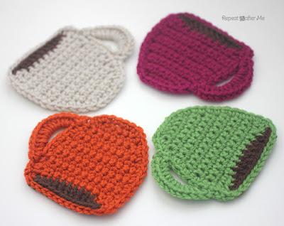 Mug crochet coasters