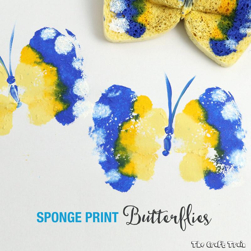 kids sponge paint butterfly