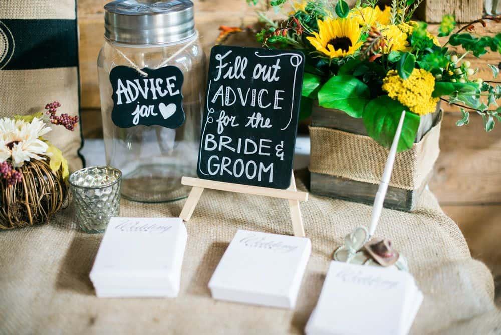 wedding advice rustic table