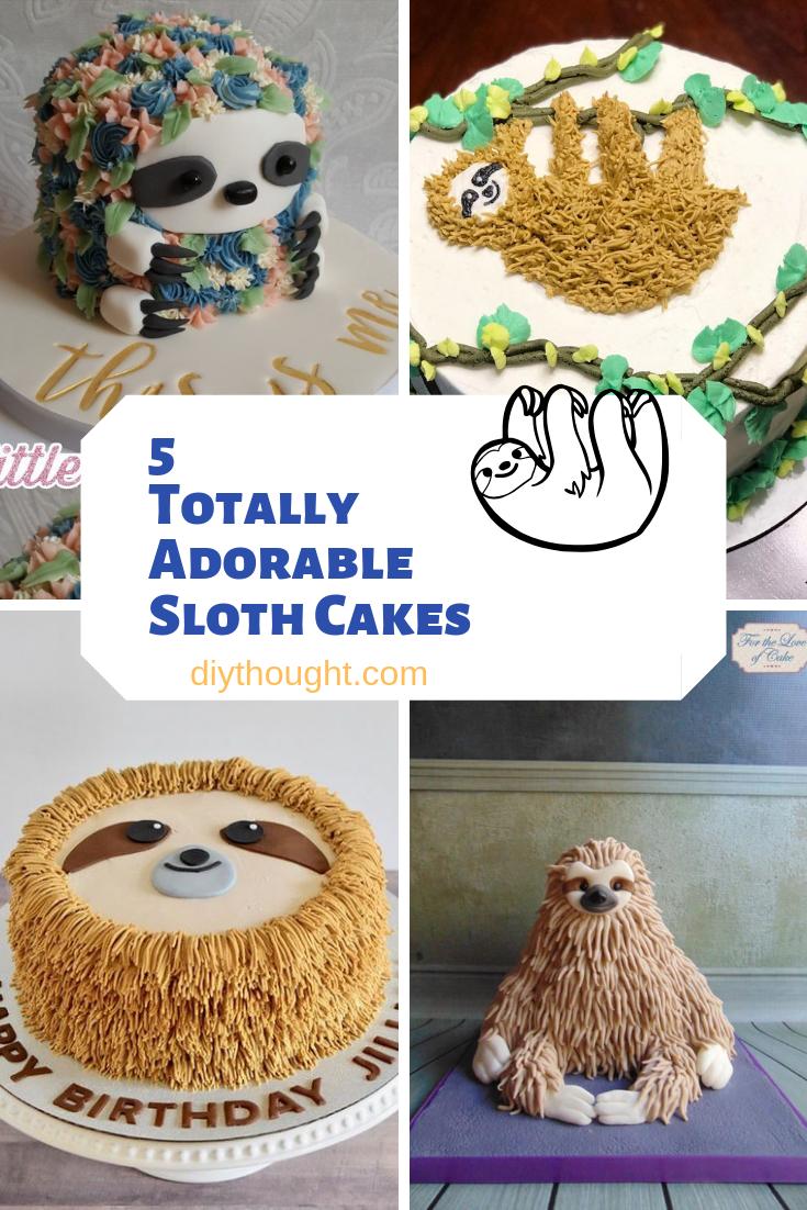 5 totally adorable sloth cake