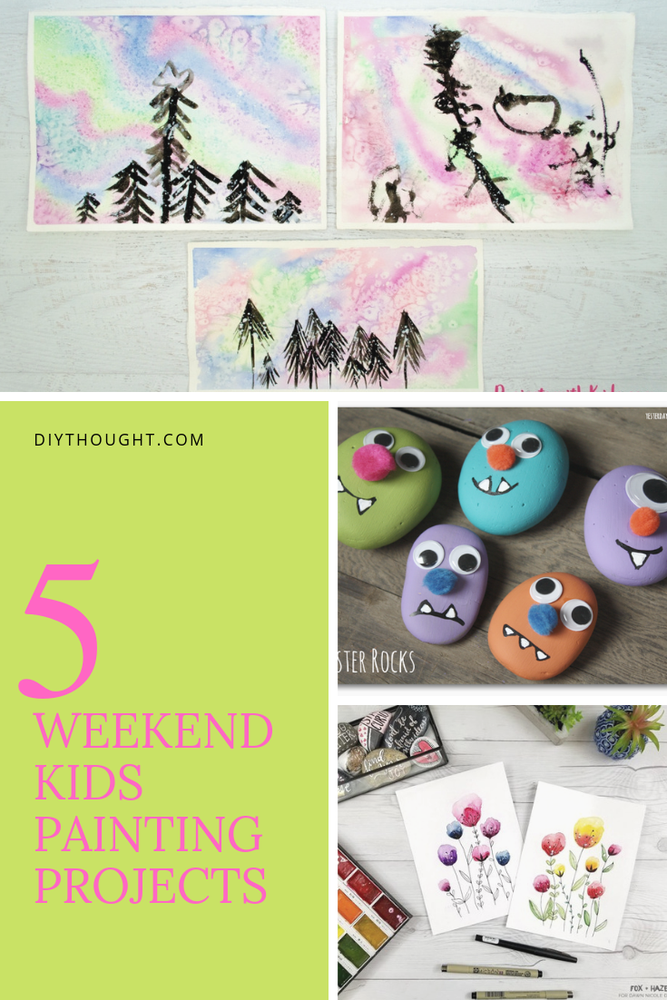5 weekend kids painting projects