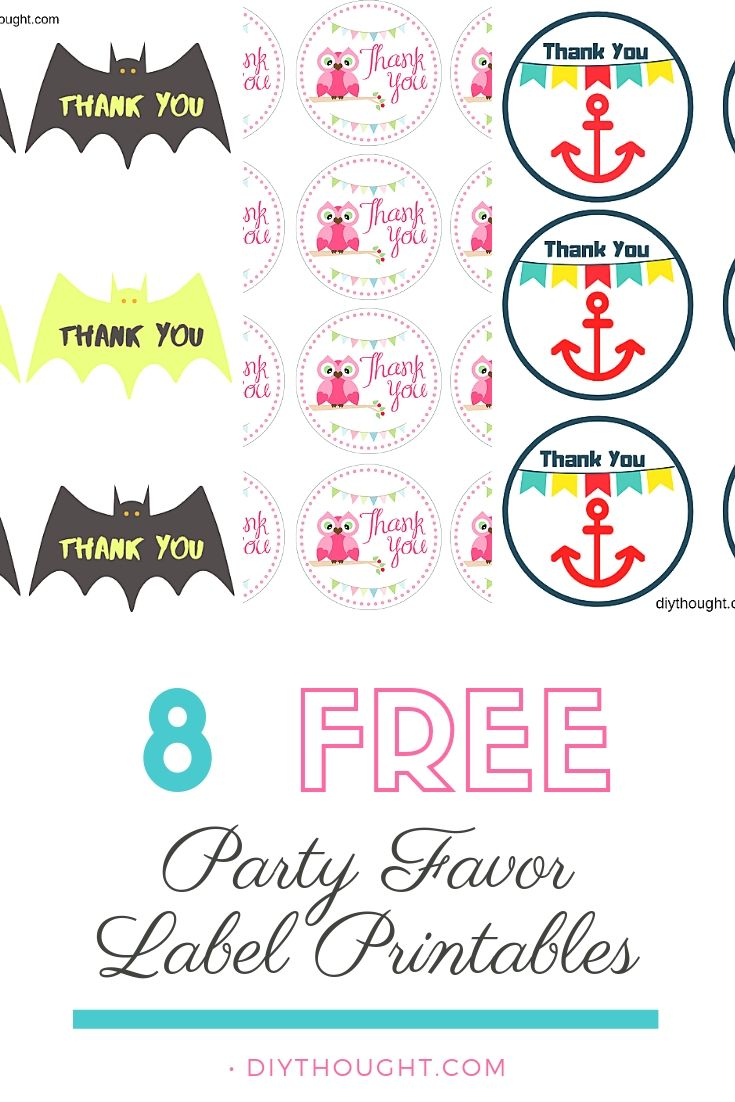8 free party favor label printables