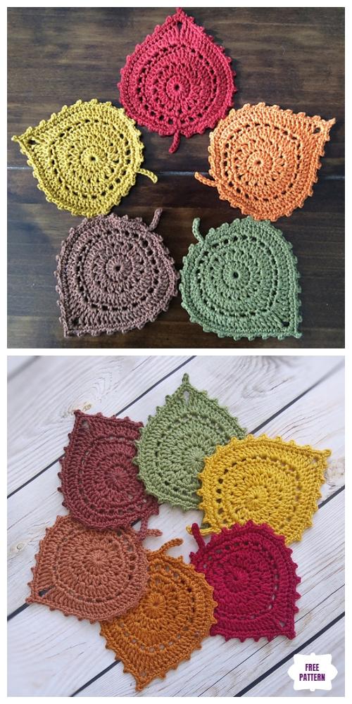 free leaf crochet pattern