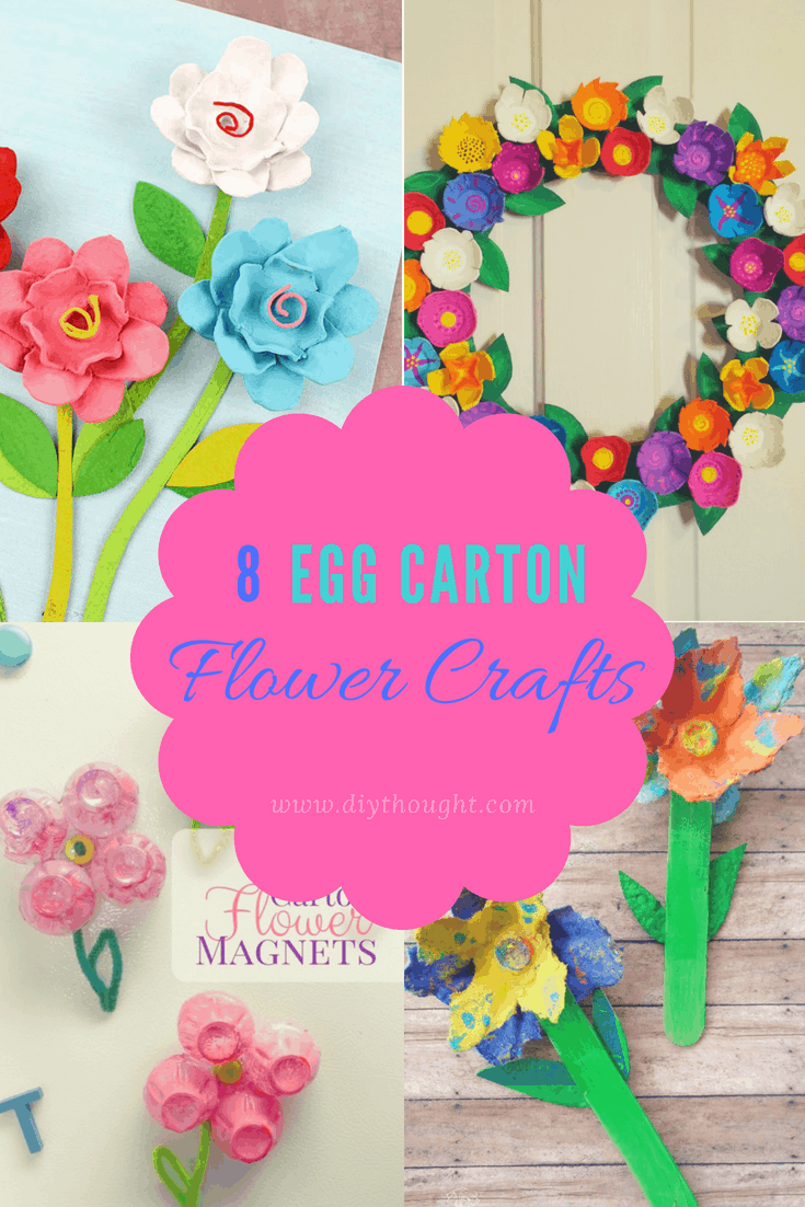egg carton flower crafts