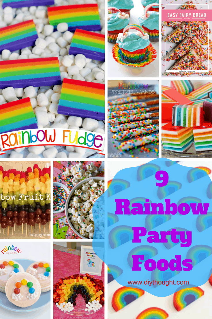 9 rainbow party foods