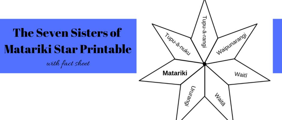 The Seven Sisters of Matariki Star Printable