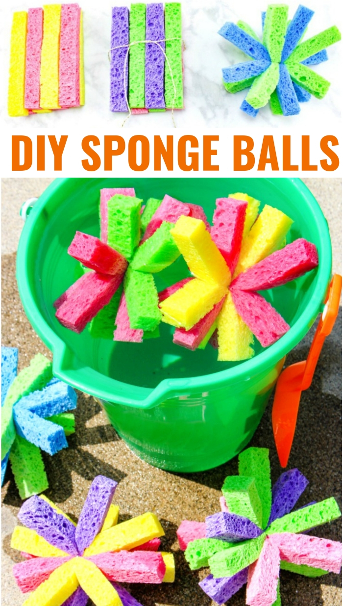 DIY sponge ball water bombs