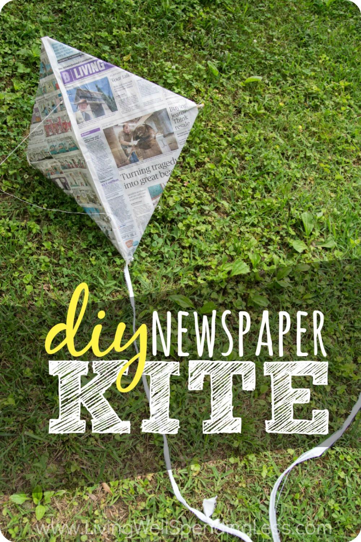 newspaper kite