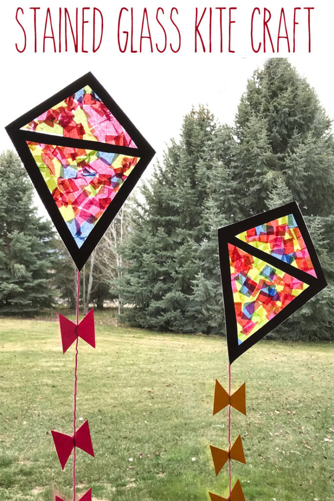 stained glass kite craft