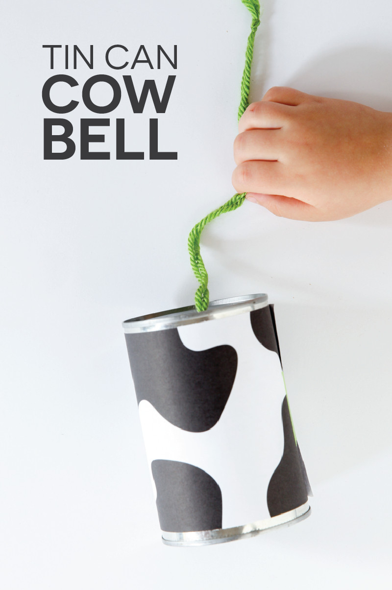 Tin can cow bell DIY