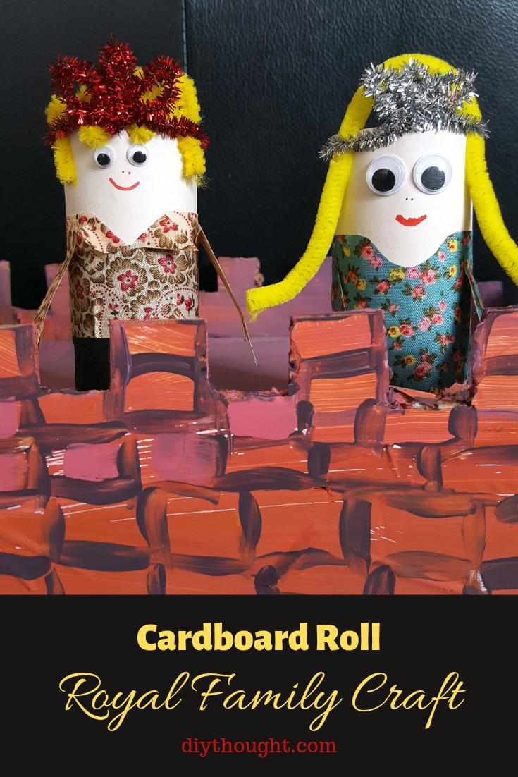 Cardboard Roll Royal Family