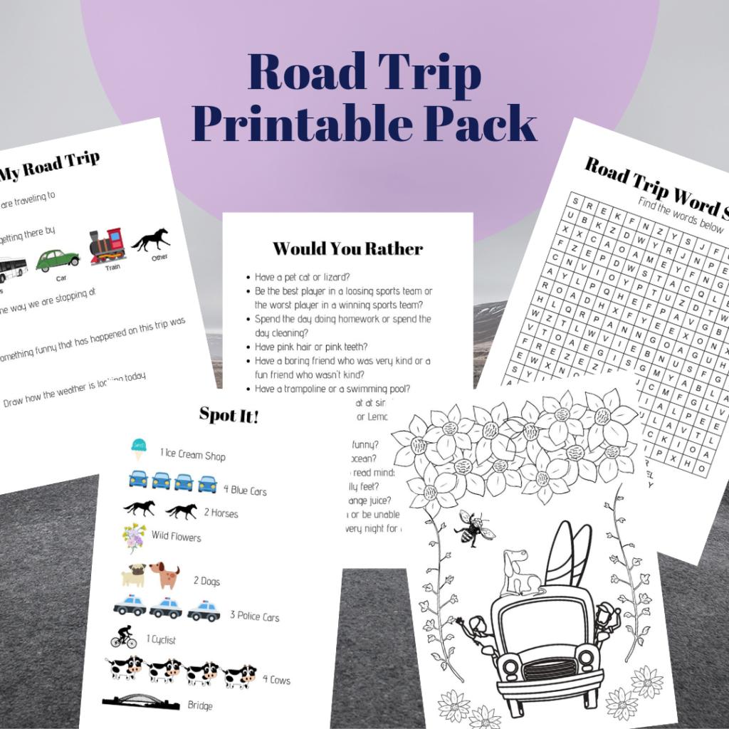 road trip printable pack
