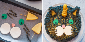 caticorn cake tutorial