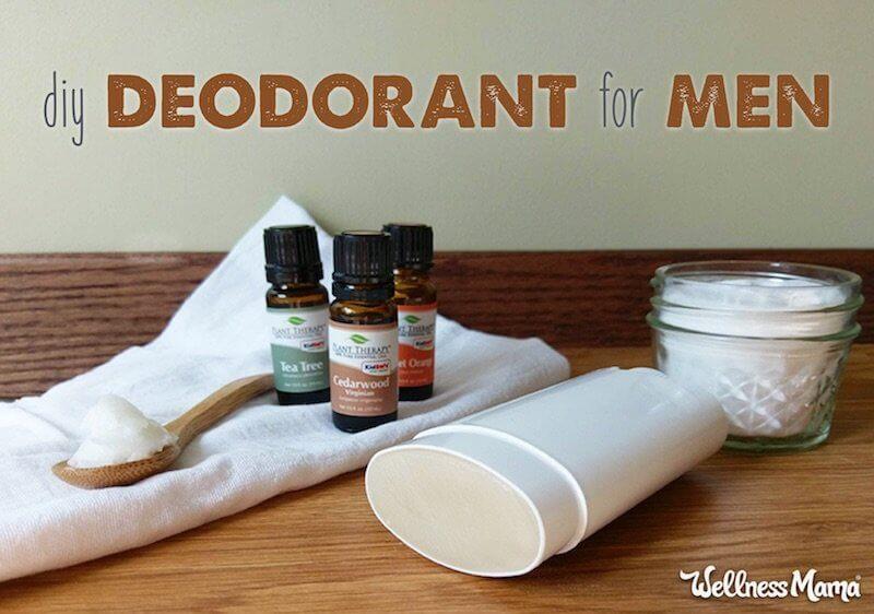 DIY natural deodorants man